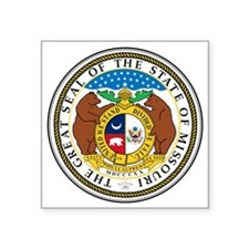 "Great Seal of Missouri Square Sticker 3"" x 3"""