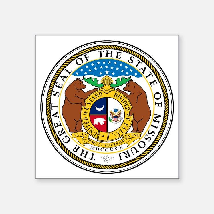 "Great Seal of Missouri Square Sticker 3"" x 3"""