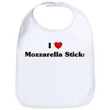 I love Mozzarella Sticks Bib