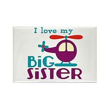 I love my Big Sister Rectangle Magnet