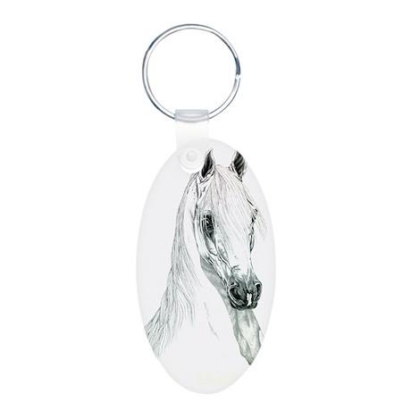 Arabian Spirit Horse Art Aluminum Oval Keychain