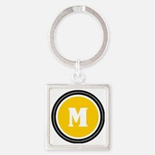 Yellow Square Keychain
