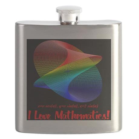 I Love Mathematics Flask