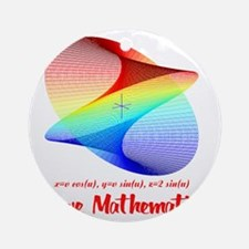 I Love Mathematics Round Ornament
