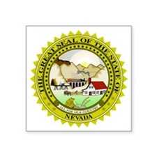 """Great Seal of Nevada Square Sticker 3"""" x 3"""""""