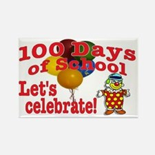100th Day Clown Rectangle Magnet