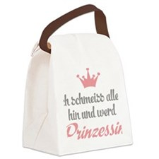 funny princess Canvas Lunch Bag