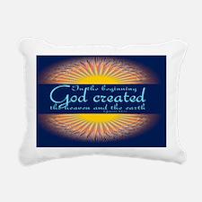 Genesis 1 1 Bible Verse  Rectangular Canvas Pillow