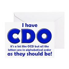 OCD CDO Funny T-Shirt Greeting Card