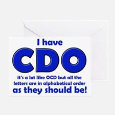 OCD CDO Funny T-Shirt Greeting Card