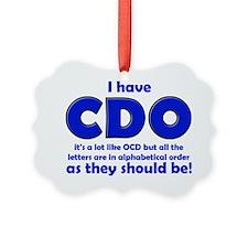 OCD CDO Funny T-Shirt Ornament