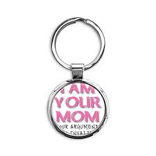 Invalid Argument Mom Funny T-Shirt Round Keychain