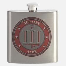 Red Molon Labe Flask