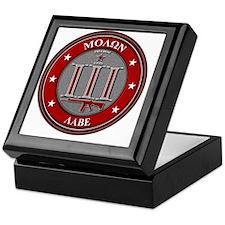 Red Molon Labe Keepsake Box