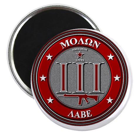 Red Molon Labe Magnet
