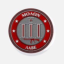 """Red Molon Labe 3.5"""" Button"""