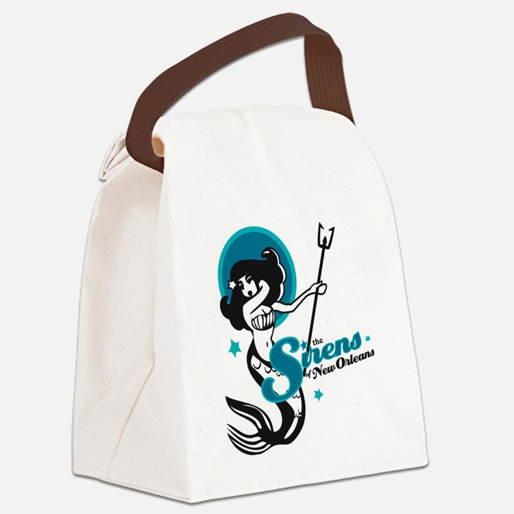 Sirens of New Orleans Canvas Lunch Bag