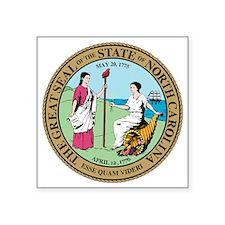 """Great Seal of North Carolin Square Sticker 3"""" x 3"""""""