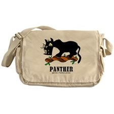 Cartoon Panther by Lorenzo Messenger Bag