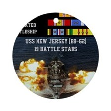 USS NEW JERSEY (BB-62) Round Ornament