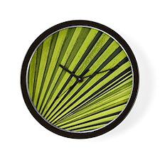 Green Palm Frond Wall Clock