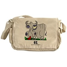 Cartoon Ox by Lorenzo Messenger Bag