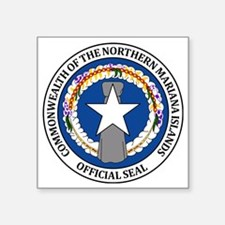 """Seal of Northern Mariana Is Square Sticker 3"""" x 3"""""""
