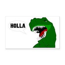 Funny T-rex dinosaur Holla de Rectangle Car Magnet