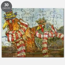 Chickens with Scarves - Laptop Skin Puzzle