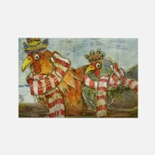 Chickens with Scarves - Laptop Sk Rectangle Magnet