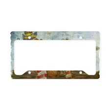 Chickens with Scarves - Lapto License Plate Holder