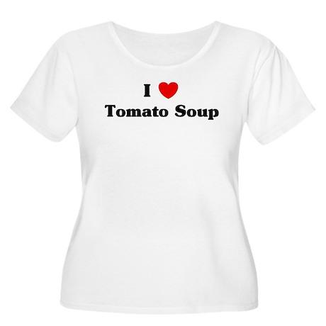 I love Tomato Soup Women's Plus Size Scoop Neck T-