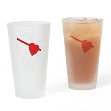 skull heart eyepatch Drinking Glass