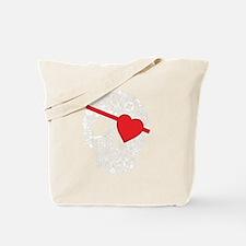skull heart eyepatch Tote Bag