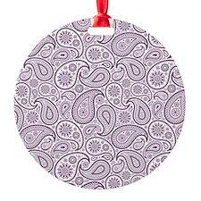 Purple Plum  White Vintage Floral P Ornament