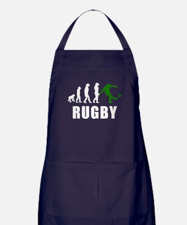 Rugby Kick Evolution (Green) Apron (dark)
