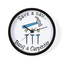 Save A Nail Wall Clock