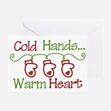 Cold Hands Greeting Card