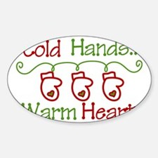 Cold Hands Sticker (Oval)