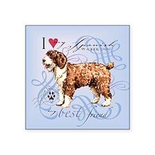 "Spanish Water Dog Square Sticker 3"" x 3"""