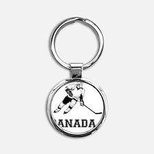 hockeyda Round Keychain