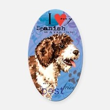 Spanish Water Dog Oval Car Magnet
