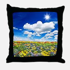 Tulip Meadow Throw Pillow