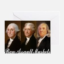 ban assault muskets Greeting Card