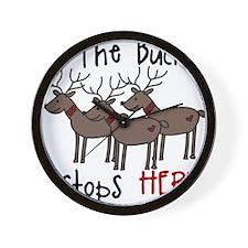 Buck Stops Here Wall Clock