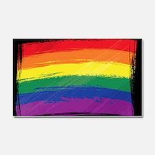 Grunge Rainbow Flag Car Magnet 20 x 12