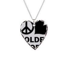 Peace Love Goldendoodle Necklace