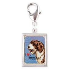 SWD-button Silver Portrait Charm