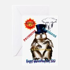 Decisions-Decisions-Groundhog Day Greeting Card