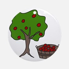 Apple Tree Round Ornament